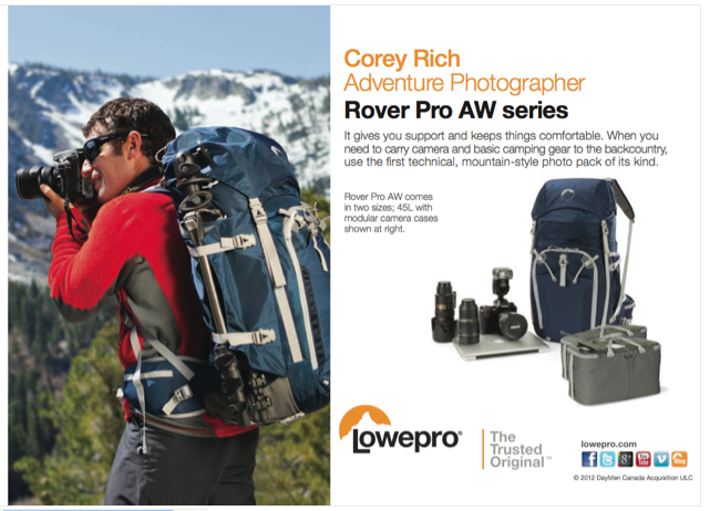 LATEST WORK  NEW Lowepro Rover Pro AW Series - Corey Rich Productions e0ae4684603c6