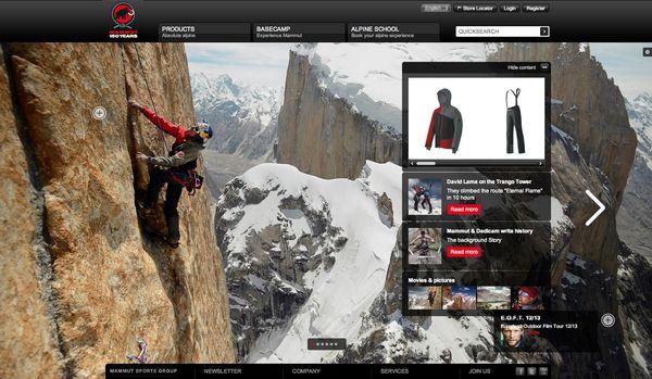 Mammut Homepage